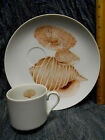 Fitz & Floyd COQUILLE Snack Plate and Cup Set  #1 plate is 9