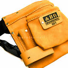 8 Pockets Mujingfang Leather Electrician Carpenter Tool Pouch Bag Nail Holder