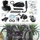 50cc 2 Stroke Motor Engine Kit Gas for Motorized Bicycle Bike Black Upgraded