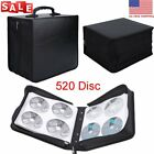520 Disc CD DVD Organizer Holder Storage Case Bag Wallet Album Media Video TO