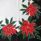 Vintage Vera Neumann Tablecloth 51 Inch Square Christmas Poinsettia Holiday