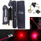Red 1mW 650nm Laser Pointer Pen Lamp 303 Lazer Visible Beam Zoom+Battery+Charger