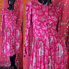 Vintage 70s Adini Dress India Floral Hippie Festival Dress
