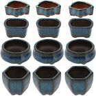 New Happy Bonsai 12 Mini Glazed Pots Small Succulent Plant Flower Planters