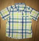 H&M BABY BOYS BLUE & GREEN PLAID BUTTON DOWN SHIRT 12-18M EXCELLENT COND LD 6