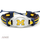 Michigan Wolverines Jewelry Bracelet Tribal Leather NCAA Football Adjustable NEW