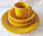 FIESTA 4-PIECE PLACE SETTING IN RETIRED MARIGOLD DINNERWARE