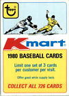 1980 Topps O-Pee-Chee Retail Promotion Cards #2 Kmart - NM