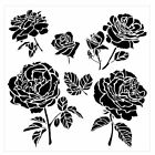 12 x 12 Crafters Workshop Painting Stencil Template Cabbage Roses