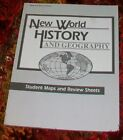Abeka New World History  Geography 6 Student Maps and Review Sheets partial
