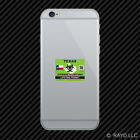 Zombie Texas State Hunting Permit Cell Phone Sticker Mobile TX