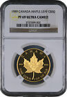 1989 Canada Proof Gold Maple Leaf ( Rare Proof ) $50 - NGC PF69 Ultra Cameo -