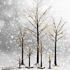 Frosted Brown Birch Twig Snow Tree Lights Lamp 24L 48L 72L Xmas Wedding Party