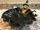 Fitz & Floyd Halloween Witch Server Candy Bowl 1987 Orig Box & Stickers Mint!