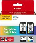 Genuine Canon Ink Cartridges PG 275  CL 276 Original For Pixma TS3520 TS3522