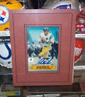 DAN FOUTS CHARGERS CUSTOM MATTED PHOTOGRAPH AUTOGRAPH 8X10 w COA