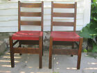 PAIR Arts  Crafts Oak Dining Chairs by Gustav Stickley No 306 1 2 MARKED