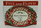 Fitz & Floyd Merry Christmas Y'all Cookie Platter Serving Tray Red Plaid Holly
