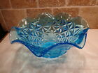 Vintage INDIANA GLASS Monticello Pattern BLUE Large Serving BOWL
