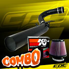 For 11-18 Chrysler 300 3.6L V6 Black Cold Air Intake + K&N Air Filter