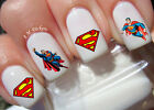 Super Man Nail Art Stickers Transfers Decals Set of 34