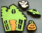 HALLOWEEN HAUNTED HOUSE  EXTRAS FOAM RUBBER STAMPS Lot of 4 CHUNKY STAMPERS