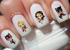 Mini Lady Super Heroes A 1032 Nail Art Transfers Decals Set of 24