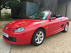 2003 53 PLATE MG TF 18 135BHP CONVERTIBLE IN STUNNING RED WITH HARDTOP