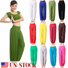 Women's Harem Genie Aladdin Causal Gypsy Dance Yoga Pants Trouser Baggy Jumpsuit