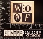 RUBBER STAMPEDE NEW RUBBER STAMPS 3945E WOOF CLOCK DOG PAW PRINTS