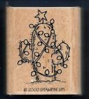 CACTUS Christmas Star Lights Cacti Southwest Scape Stampin Up 2000 RUBBER STAMP
