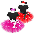 Baby Girls Toddler Minnie Mouse Tutu Skirt Outfit Costume FANCY Dress Up Ear Set