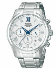 Pulsar Chronograph Silver Dial Stainless Steel Men's Watch PT3399