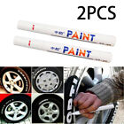 2X Waterproof Permanent Paint Marker Pen Car Tyre Rubber Metal White USWarehouse