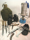 LOT CAMPING GEAR KNIVES IKEA COFFEE MAKER CANTEEN GERER SAW BINCULARS BLUET 206