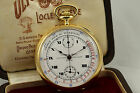 18kt Solid Gold Ulysse Nardin With Box Medical Pulsations Chronograph Mint 50mm