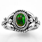 Chalama Black Opal 925 Sterling Silver Ring Jewelry s.6 SDR8163