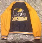 Michigan Wolverines Vintage Letterman Jacket Blue And Yellow