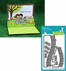 Lawn Fawn FLOWER HILLSIDE POP UP ADD ON Lawn Cuts Die Set LF1369 NEW