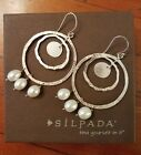 Silpada Pearls of Wisdom Earrings Authentic W3157 RETIRED Hard to Find