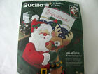 BUCILLA FELT APPLIQUE CHRISTMAS STOCKING KIT *SANTA AND RUDOLPH* PERSONALIZE