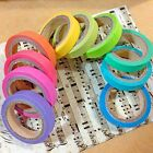 10pcs Colorful Rainbow Washi Sticky Paper Adhesive DIY Masking Tape Scrapbooking