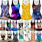 Nebula Women 3D Print Gothic Vest Sleeveless Shirt Punk Casual Blouse Tank Tops