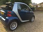 SMART FORTWO PASSION MHD 999C AUTO CONVERTIBLE 2009 70K