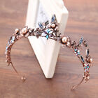 Vintage Wedding Bridal Baroque Crystal Pearl Headbands Crown Tiara Prom Jewelry