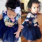 US Stock Toddler Baby Girls Summer Sundress Ruffle Tulle Party Dress Clothes