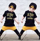 US Stock Toddler Kids Boy Summer Tops T shirt Pants Outfits 2Pcs Set Clothes