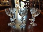 6 Tiffin Resplendent 5 oz wines vertical lines oval cuts air bubble in stem