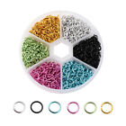 1080pcbox Aluminum Open Jump Rings 6-color Kit Unsoldered Loop Findings 6x0.8mm