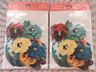 Vintage Hallmark Cut Out Pansy Flowers Party Invitation New In Package 16 Cards
